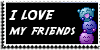 Stamp - I love my friends [black] by ShiStock