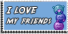 Stamp - I love my friends [blue] by ShiStock