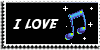Stamp - I love music [black] by ShiStock