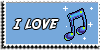 Stamp - I love music [blue] by ShiStock