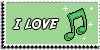 Stamp - I love music [green] by ShiStock