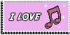 Stamp - I love music [pink] by ShiStock