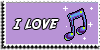 Stamp - I love music [purple] by ShiStock