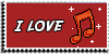 Stamp - I love music [red] by ShiStock