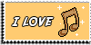Stamp - I love music [yellow] by ShiStock