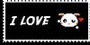 Stamp - I love bunny [black] by ShiStock