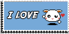 Stamp - I love bunny [blue] by ShiStock