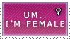 Um stamp female edition by SirCalistine