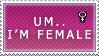 Um stamp female edition by SirCalistine