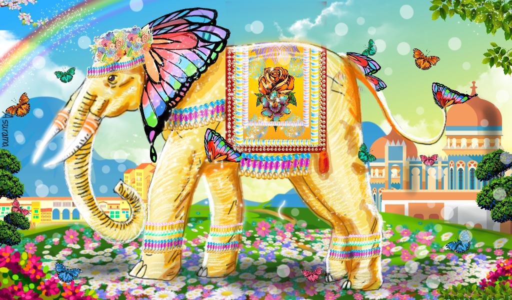 Fantasy elephant by Asurama