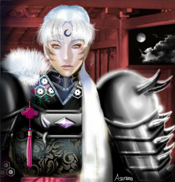 Sesshoumaru black armor by Asurama