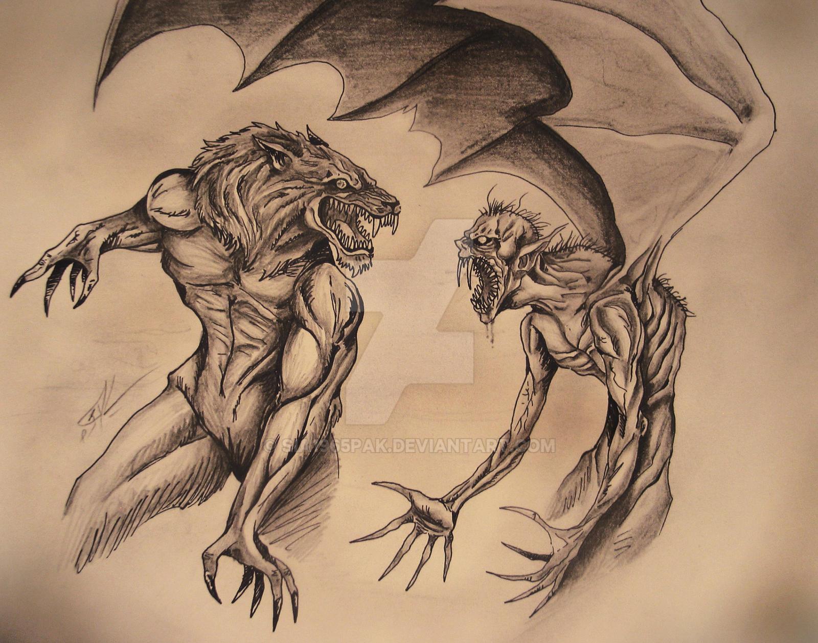 werewolf vs vampire by sia1965pak on deviantart