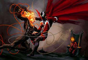 Ghost Rider vs Spawn by sia1965pak