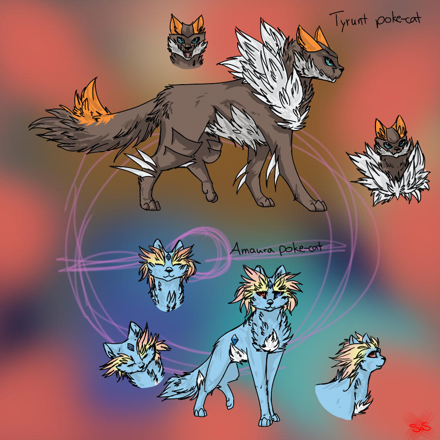 Tyrunt and Amaura by StainsofScarlet on DeviantArt
