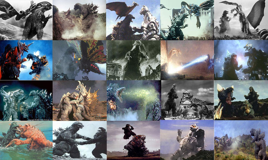 Godzilla: A History collage by ghidorah5464 on DeviantArt