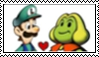 Luigi x Peasley stamp by randommariogirl741
