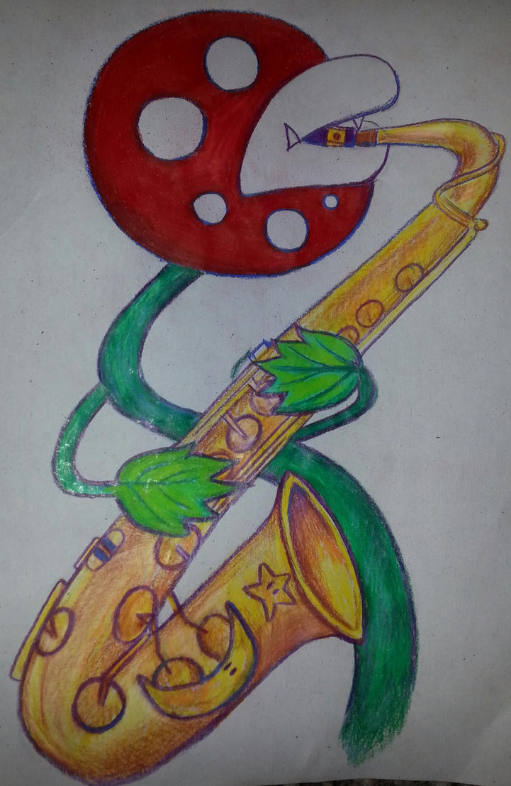 Pirana Plant and saxophone by Dacic