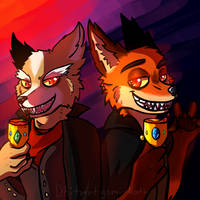 Request Fox and Nick by tmntyomi