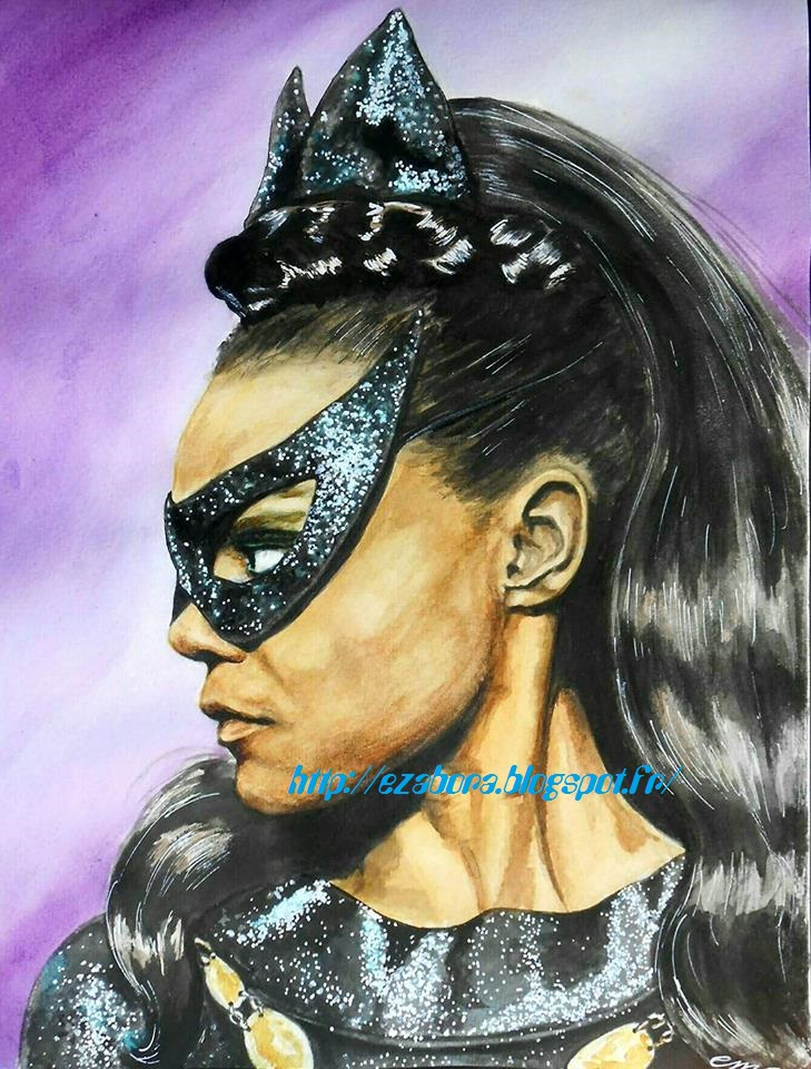 Eartha Kitt as  Catwoman by Ezabora
