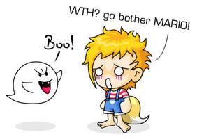 MapleStory VS SuperMario ghost by MisterMoka