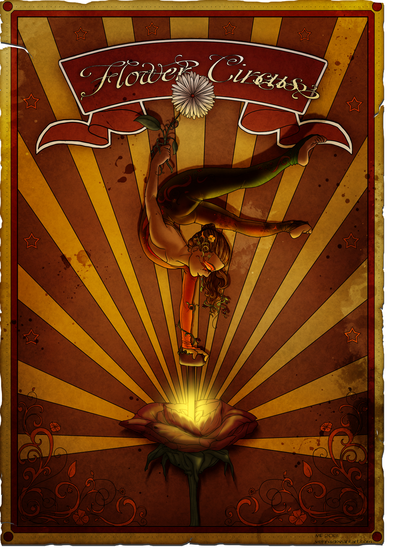 Flower Circus Poster by Akissi