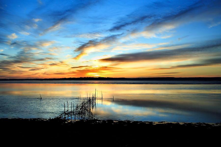 Cree Sundown: salmon nets by Coigach