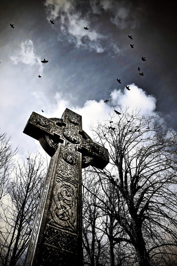 Crows+Celtic Cross by Coigach