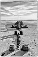North Sea Dawn 7 - Monochrome Breakwater by Coigach