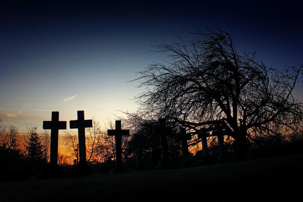 New Day - Norfolk Churchyard by Coigach