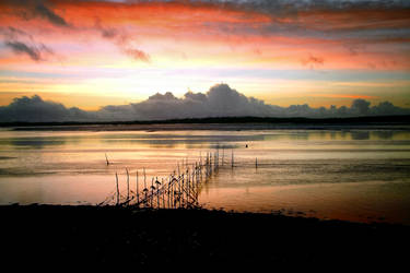 Sky Fire - Solway Firth by Coigach