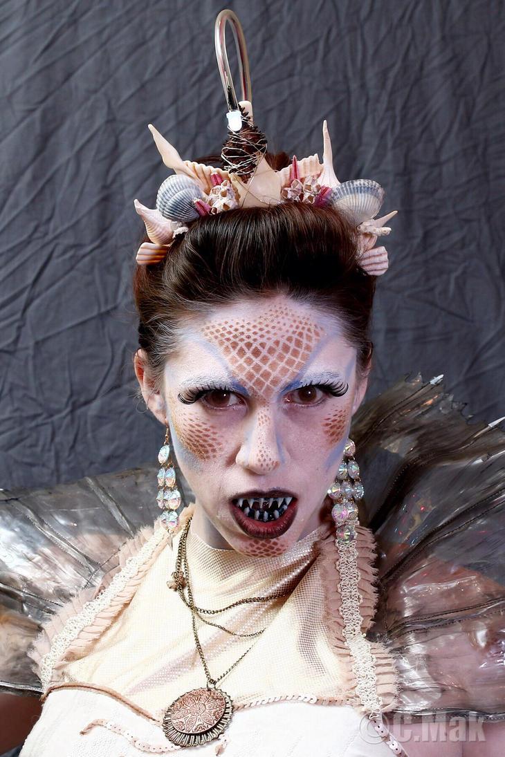 Angler fish mermaid makeup by darkelf205 on deviantart for Angler fish costume