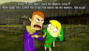 Happy Mask Salesman and Link