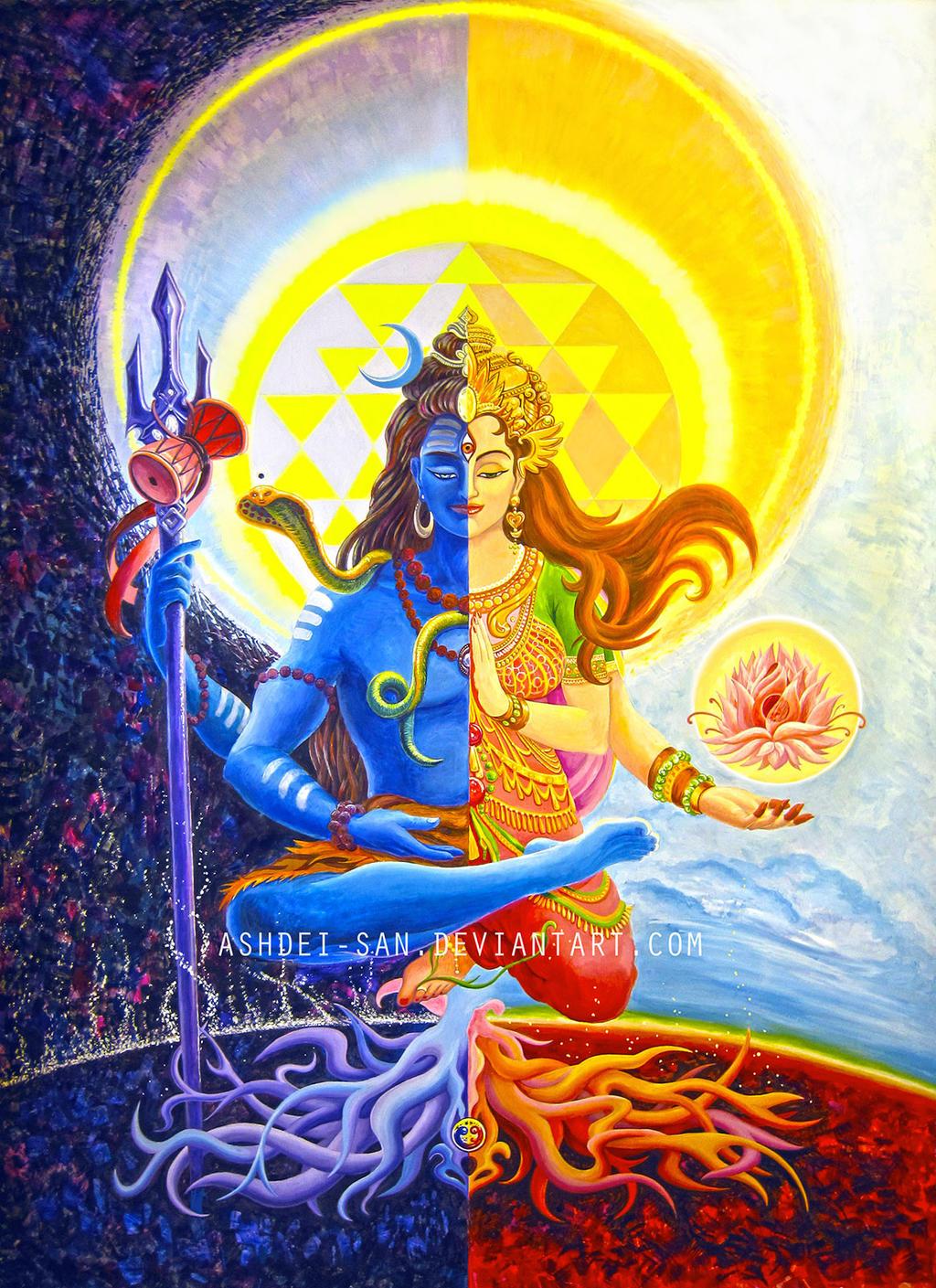 Shiva and Shakti (Ardhanarishvara)