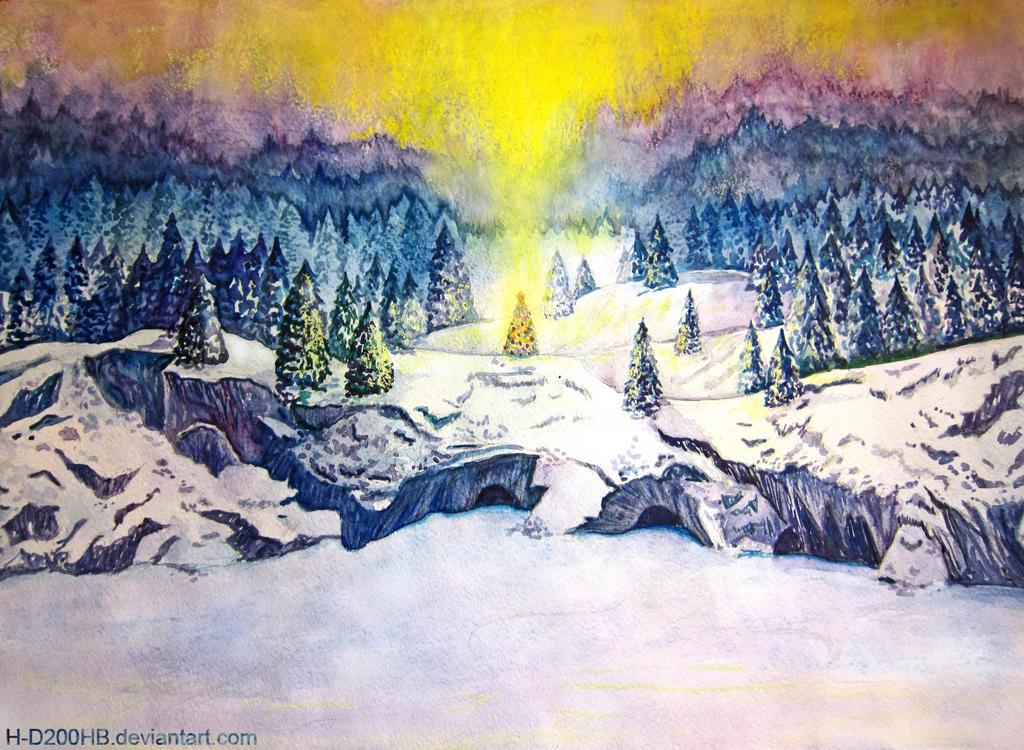Winter Lake by Ashdei-san