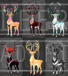 [OPEN 5\6] Fantasy Deer Adoptable Auction by Ashdei-san
