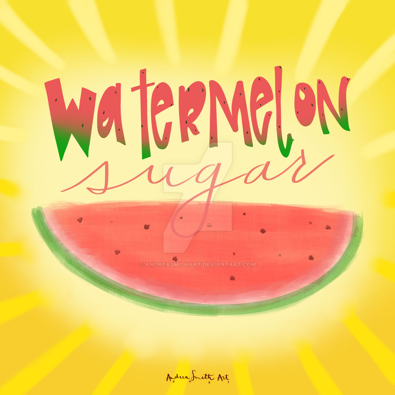 Watermelon Sugar High By Andreasmithart On Deviantart