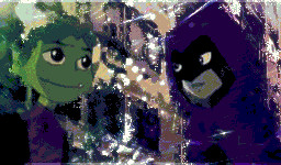 Beast Boy and Raven by SamZig