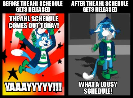 AHL Schedule Disappointment (2016) by PolarWildcatStudios