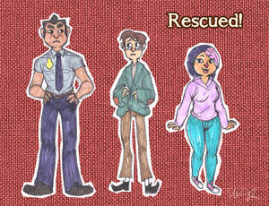 Rescued! Character Designs