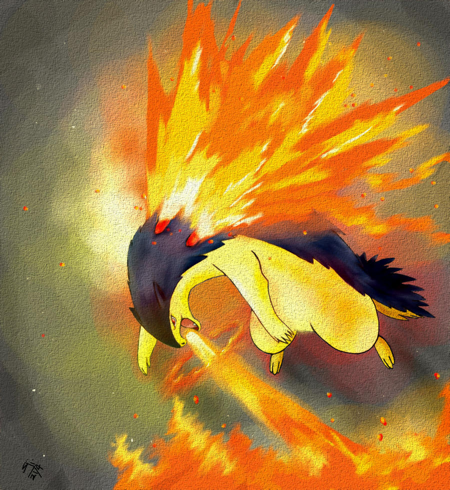 Typhlosion by sharkjaw