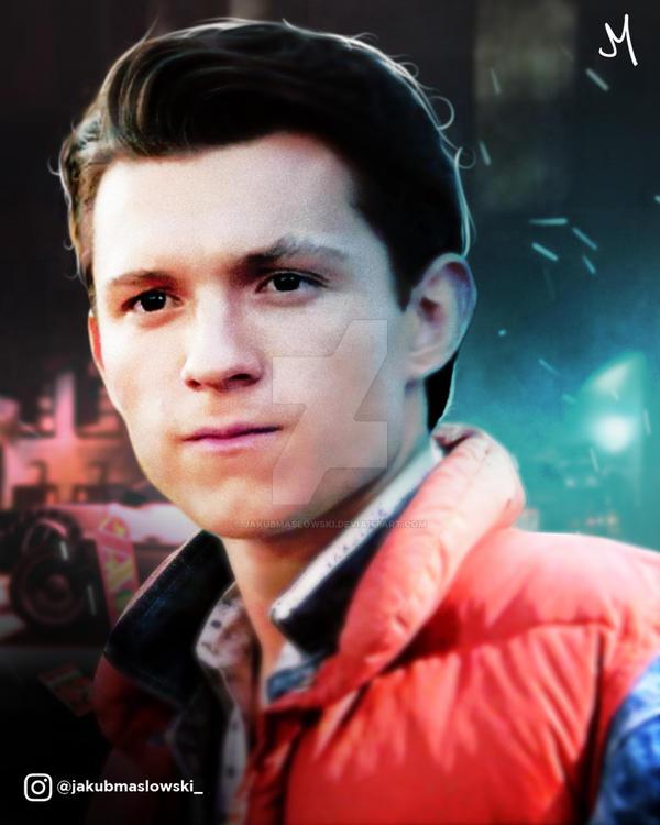 Tom Holland | Marty McFly by jakubmaslowski