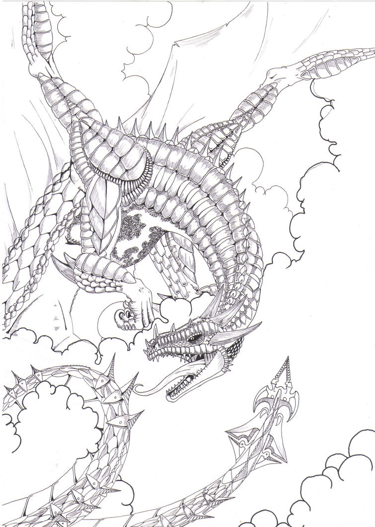 detailed dragon coloring pages - photo #12