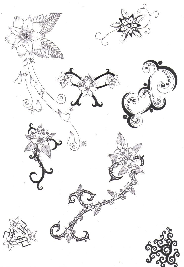 Flower Tattoo Designs 4 by crazyeyedbuffalo