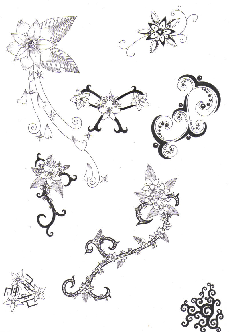 Flower Tattoo Designs 4 by crazyeyedbuffalo