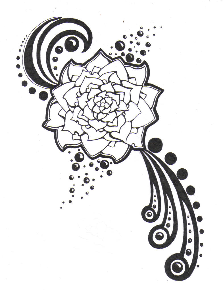 Black and white flower by crazyeyedbuffalo on deviantart black and white flower by crazyeyedbuffalo mightylinksfo
