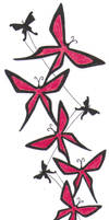 Blood red butterfly by crazyeyedbuffalo