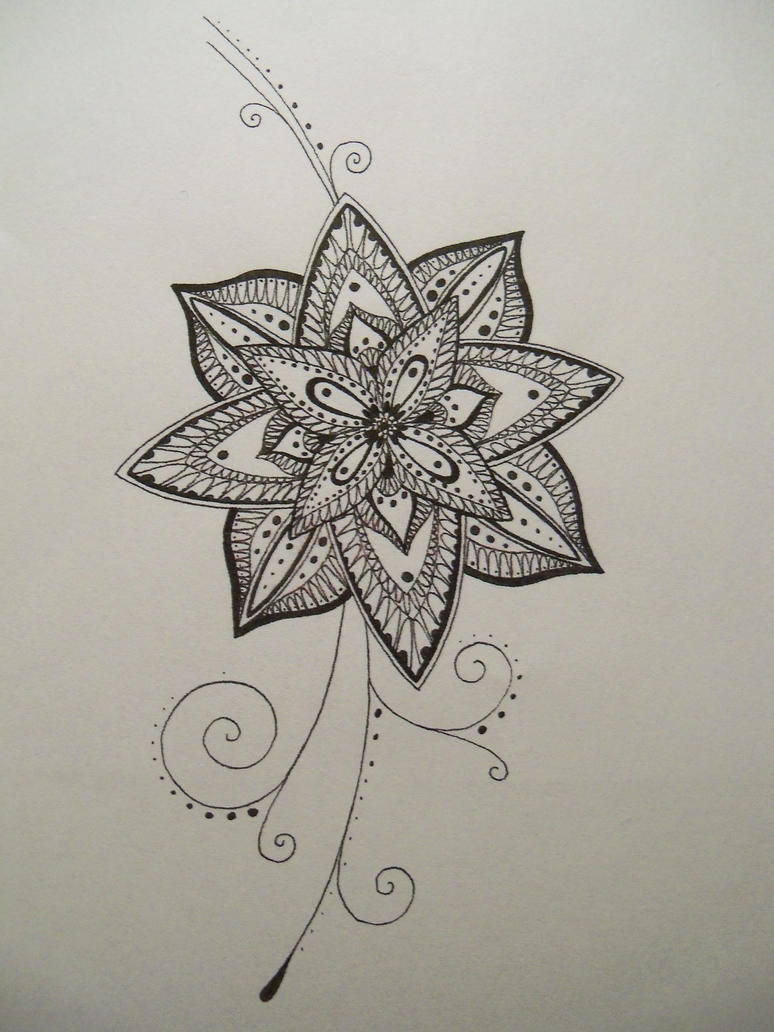 Flower doodle by crazy...