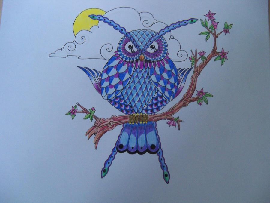 Irregular owl by crazyeyedbuffalo