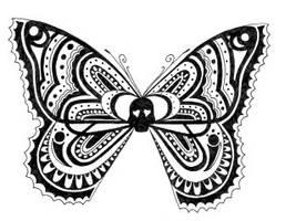 Henna butterfly by crazyeyedbuffalo