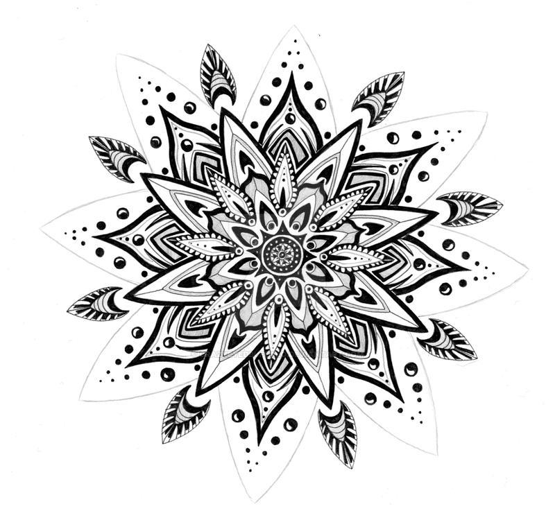 henna inspired flower by crazyeyedbuffalo on deviantart. Black Bedroom Furniture Sets. Home Design Ideas
